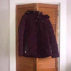 Maroon Puffer Coat